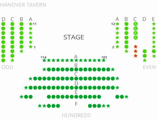 Hanover Tavern Seating Chart