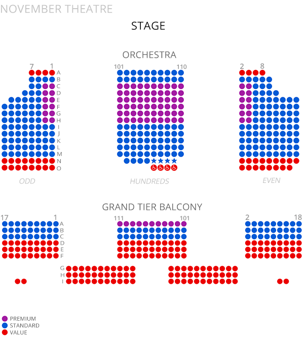 November Theatre Seating Chart