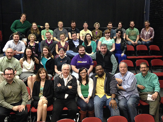 Staff meeting at Theatre Gym, 2015