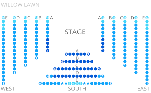 Willow Lawn Seating Chart